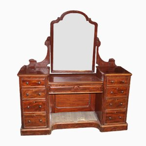 Victorian Mahogany Dressing Table with Central Mirror