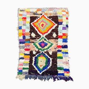 Vintage Berber Carpet Boucherouite, 1980s