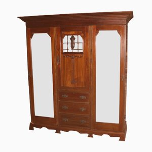 Antique Mahogany Wardrobe Compactum