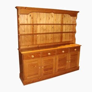 Modern Country Pine Dresser with Display Rack, 1980s