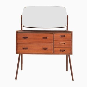 Mid-Century Danish Teak and Glass Console Table, 1960s