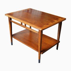 Mesa auxiliar Mid-Century vintage de nogal y roble de Lane Furniture, años 50
