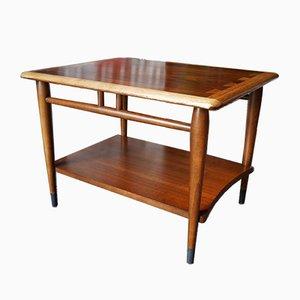 Mid-Century Vintage Nussholz & Eiche Beistelltisch von Lane Furniture, 1950er