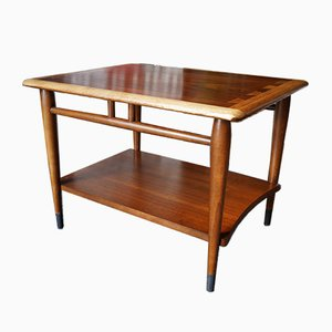 Mid-Century Vintage Walnut and Oak Side Table from Lane Furniture, 1950s
