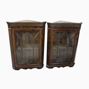 Small Corner Cupboards with Astragal Glazing, 1960s, Set of 2