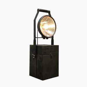 Vintage Industrial Portable Accumulator Lamp