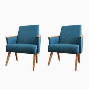 Mid-Century Modern Minimalistic Armchairs, 1960s, Set of 2