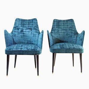 Italienische Mid-Century Stühle von Osvaldo Borsani, 1950er, 2er Set