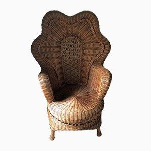 Vintage Bohemian Rattan Lounge Chair