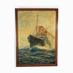 Steamship Crown Princess Cecilie, Antike Malerei