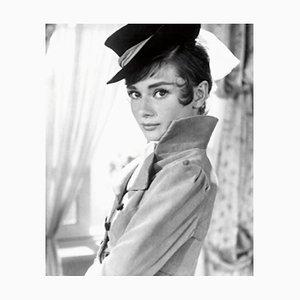 Audrey Hepburn Archivdruck in Schwarz