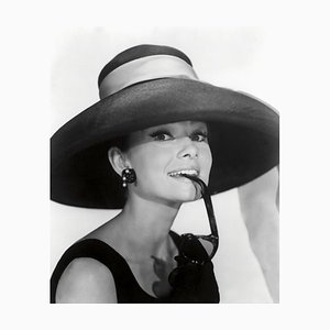 Audrey Hepburn Archival Pigment Print Framed in Black