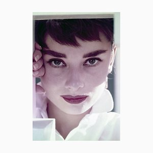 Audrey Hepburn Framed in White by Bill Avery