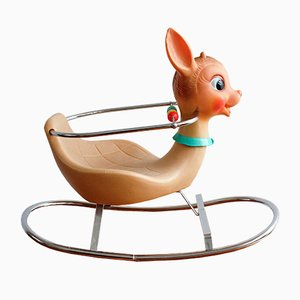 Vintage Italian Rocking Bambi Toy from Canova, 1960s