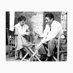 Audrey Hepburn and Gregory Peck Archival Pigment Print Framed in Black