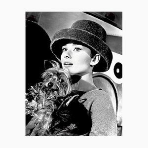 Audrey Hepburn Funny Face Archival Pigment Print Framed in Black