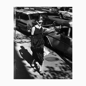 Audrey Hepburn Holly Golightly Archival Pigment Print Framed in White