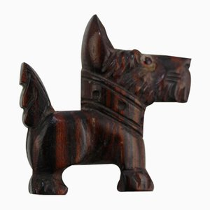 Cut Bakelite Foxterrier Brooch, 1930s