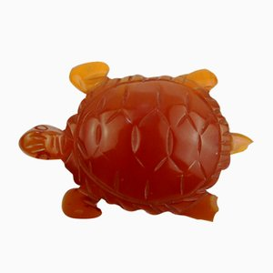 Cut Bakelite Turtle Brooch, 1930s