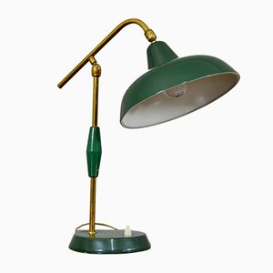Vintage Italian Metal and Brass Table Lamp, 1950s