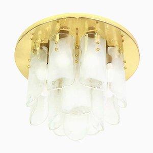 Large Austrian Brass & Murano Glass Light Fixture from Kalmar, 1970s