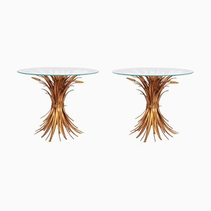 Regency Gilt Palm Tree and Wheat Coffee Tables by Hans Kögl, 1970s, Set of 2