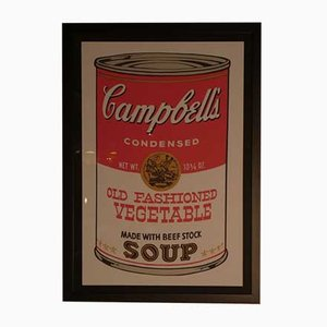 Andy Warhol para Bluegrass, Campbell's Old Fashioned Vegetable, 1989, Litografía