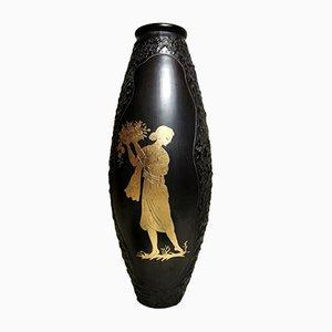 Italian Ceramic Bucchero Vase by Carlo Alberto Rossi, 1950s