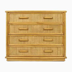 Bamboo and Rattan Chest of Drawers, 1970s
