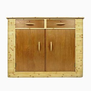 Dutch Bamboo and Wood Buffet, 1970s