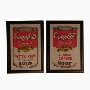 Andy Warhol für Bluegrass, Campbell's Oyster Stew & Cheddar Cheese, 1989, Lithographie, 2er Set