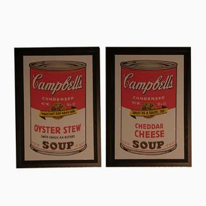 Andy Warhol pour Bluegrass, Campbell's Oyster Stew & Cheddar Cheese, Set de 2, 1989, Lithographie