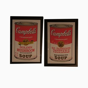 Andy Warhol, Campbells Old Fashioned Vegetable & Golden Mushroom, 1989, Prints for Bluegrass, Set of 2