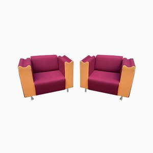 Vintage Lounge Chairs from Moroso, 1990s, Set of 2