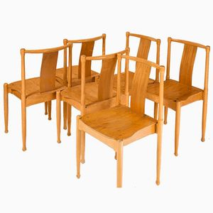 Vintage Swedish Stackable Chairs, Set of 6