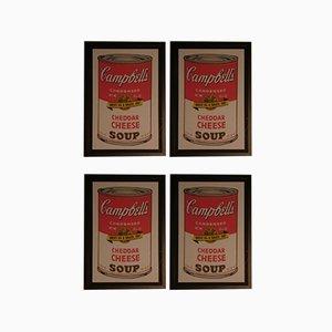 Andy Warhol, Campbell's Oyster Eintopf - Cheddar Chese - Old Fashioned Vegetable - Gold Mushroom, 1989, Drucke für Bluegrass, 4er Set