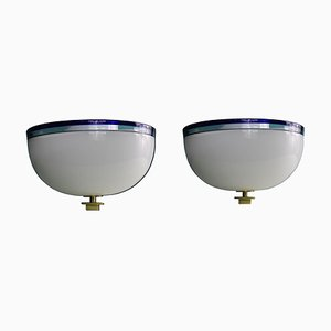 Murano Glass Model DECBOI Ceiling Lamps by Paolo Venini, 1990s, Set of 2