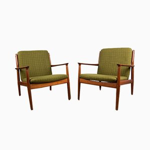 Danish Teak Model GM5 Armchairs by Svend Åge Eriksen for Glostrup, 1960s, Set of 2