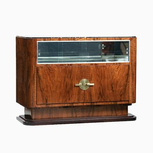 Art Deco Walnut and Marble Sideboard, 1930s