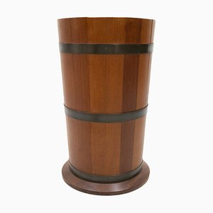 Solid Teak Umbrella Stand from Luxus of Sweden, 1968
