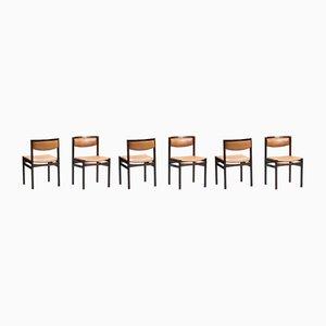 Palisander Esszimmerstühle von Sax Mobelfabrik, 1960er, 6er Set