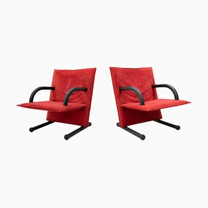 T-Line Lounge Chairs by Burkhard Vogtherr for Arflex, 1982, Set of 2