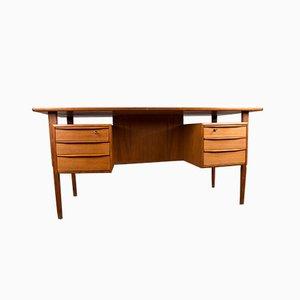 Large Danish Teak Double-Sided Office Desk by Peter Løvig Nielsen for Dansk Design, 1970s