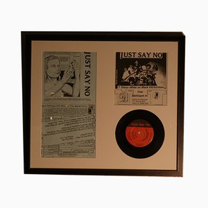 Framed Limited Edition Just Say No LP by Raymond Pettibon for Staple Gun Records, 1992