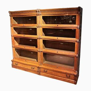 Antique Bookcase by Globe Wernicke, 1900s, Set of 8