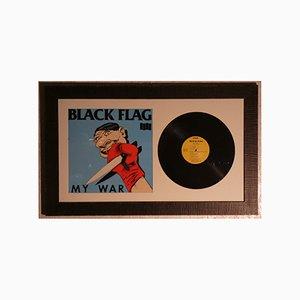 Gerahmte Black Flag My War LP von Raymond Pettibon für SST Records, 1984