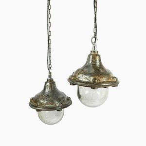 Industrial FLP Proof Factory Pendant Lamp from GEC, 1940s