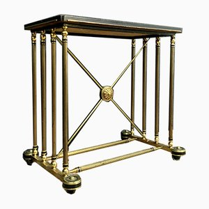 House Bagués Brass Gold Serving Table on Wheels, 1960s