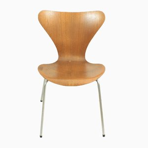 Sedia serie 7 Mid-Century in teak di Arne Jacobsen per Fritz Hansen, anni '60