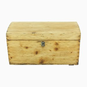 Small Antique Spruce and Fir Chest, 1900s
